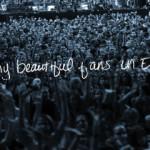 Podziękowanie dla fanów w Europie || Standing On The Sun